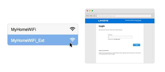 Access Linksys Wireless Extender Login Page on Mac OS X